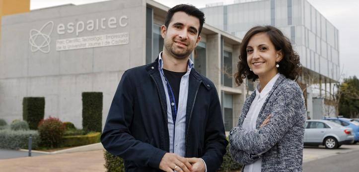 Los promotores de Inunyi en las instalaciones de espaitec