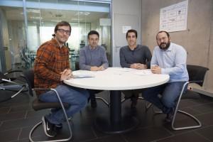 Responables de Micrea reunidos con David Cabedo, director académico de Espaitec.